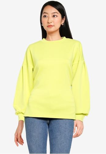 JACQUELINE DE YONG yellow Bella Long Sleeve Sweatshirt AEFD6AA2621C7DGS_1