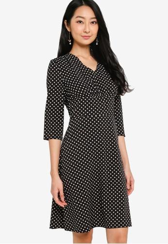ZALORA BASICS multi 3/4 Sleeve Mini Tea Dress 0676BAA9A97FBFGS_1