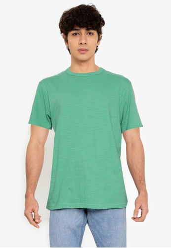 Springfield green Washed T-Shirt C4796AA22E166DGS_1