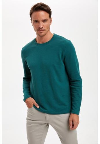 DeFacto green Man Knitted Long Sleeve T-shirt 3D5E4AA2A24002GS_1
