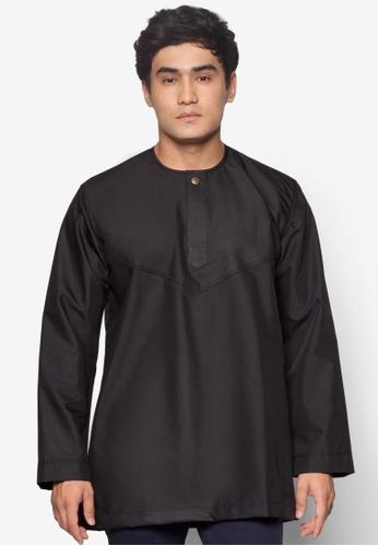 Amar Amran black Kurta Al Amin AM362AA41JEKMY_1