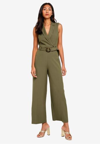 d7fb3d42d9c Buy Miss Selfridge Petite Khaki Utility Jumpsuit Online on ZALORA ...