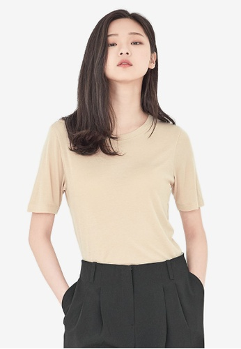 NAIN beige Slim Fit Top CB497AA440EF67GS_1