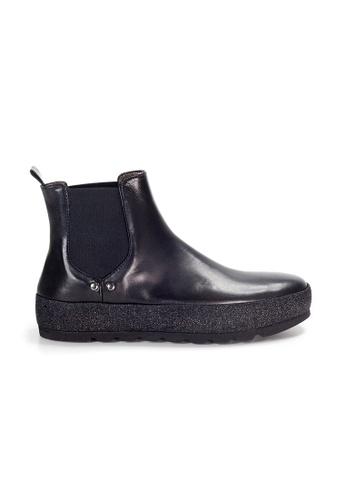 Shu Talk black XSA Mid Calf Leather Chelsea Boots D9BD6SHA474433GS_1