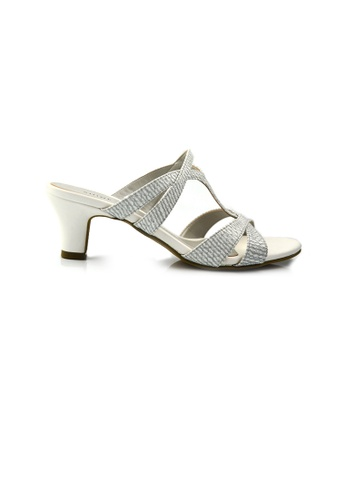 SHINE white Slip On Cut Out Strap Sandals SH554SH34GFTSG_1