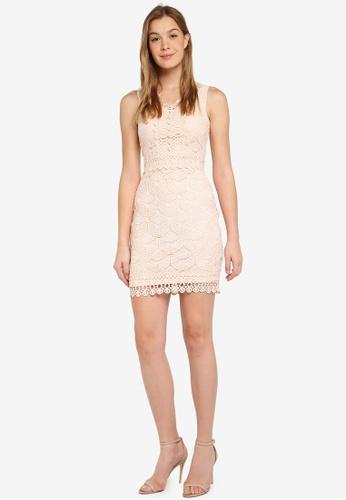 02377cd40cb Buy Dorothy Perkins Geo Lace Pencil Dress Online