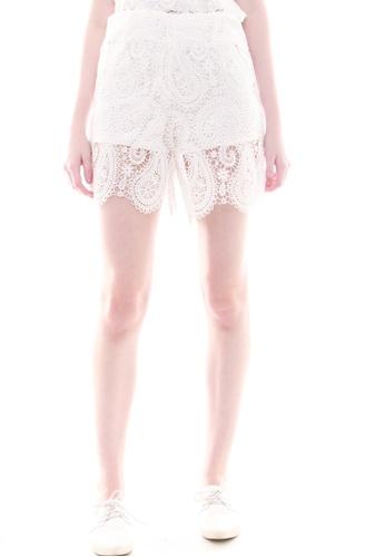 JOVET white Lace Shorts JO914AA22JWNSG_1