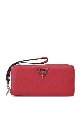 Guess red Sandrine Sling Large Zip Around Wallet 1B219ACDDBD627GS_1