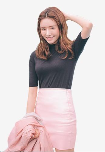 韓系風格五分袖貼身上衣, 服飾esprit 台中, 上衣