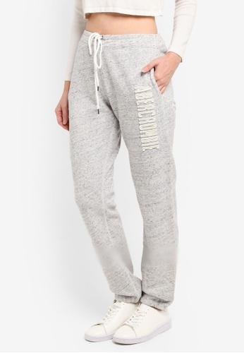 Abercrombie & Fitch grey Long Life Logo Pants F0808AA7B8FB61GS_1