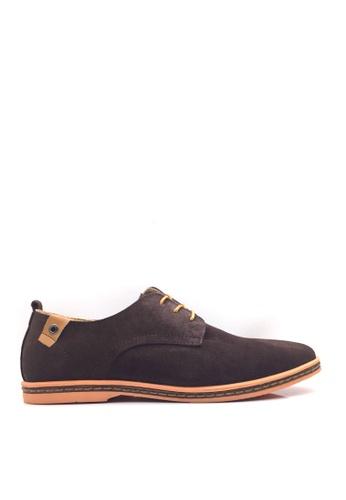 Twenty Eight Shoes 褐色 VANSA 牛猄皮休閒鞋  VSM-CK01 632E1SHA60CA93GS_1