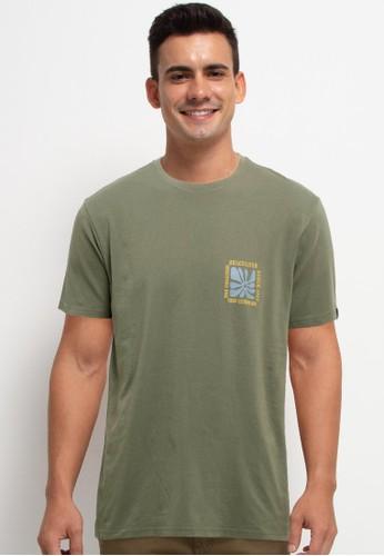 Quiksilver green Endless Nights Short Sleeve Tee 54A3BAA56425A0GS_1