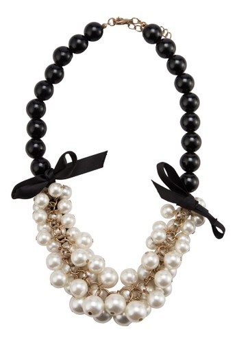 Necklace with Bunch Pearl & Ribbon, esprit 見工飾品配件, 飾品配件