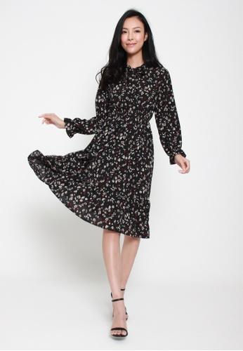 Sophialuv multi Disco Fever Long Sleeved Dress in Dots 80A2FAA31C4573GS_1