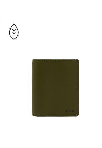 Fossil green Joshua Vegan Cactus Front Pocket Wallet 6F025ACD23FBB9GS_1