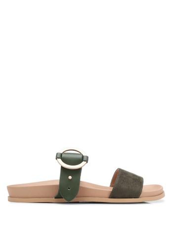 ZALORA green Buckle Sandals A12C8SH21DED2DGS_1
