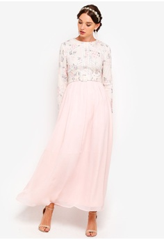 5b2d41c83f9722 25% OFF Zalia Embroidered Floral Fit And Flare Dress RM 265.00 NOW RM  198.90 Sizes XS S M L XL
