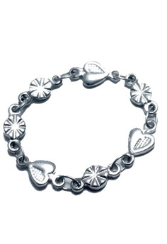 Stainless Steel Heart Round Soft Chain Ring