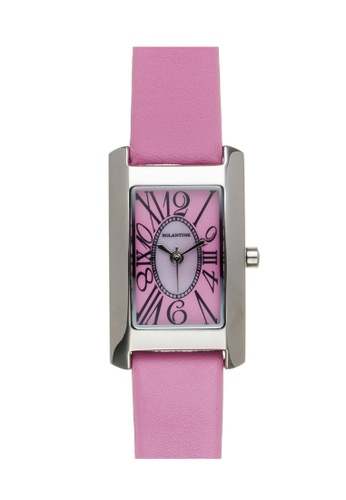 EGLANTINE silver EGLANTINE® Lily Mini Steel Quartz Ladies Watch on pink leather strap 91689AC38206CEGS_1