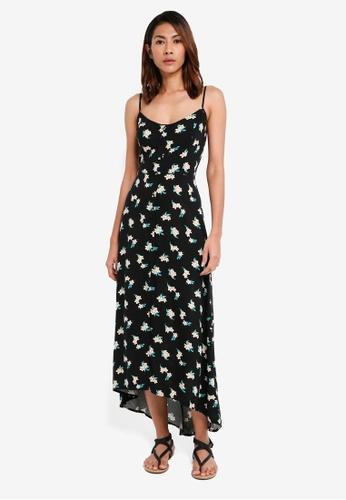 Hollister black Printed Button Thru Maxi Dress C1035AA0901B03GS_1