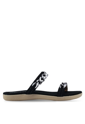 Mimosa black Metal Hardware Strap Sandals B487BSH2B2BC6FGS_1