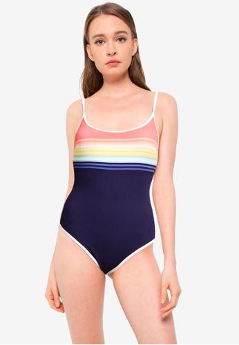 Rip Curl blue Sayulita Stripe One Piece Swimsuit FF185USDCF9936GS_1
