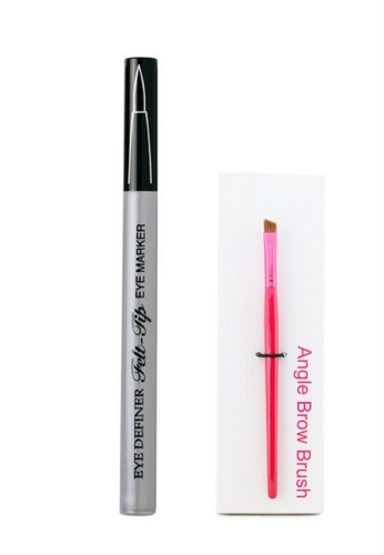 Physicians Formula black Eyeliner: [Physicians Formula Official] Eye Definer Felt-Tip Eye Marker - Ultra Black (FREE x1 Angle Brow Brush) PH385BE69DICMY_1
