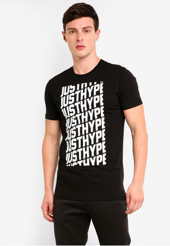 Just Hype black and white Repeat T-Shirt FB43FAAE7A7069GS_1