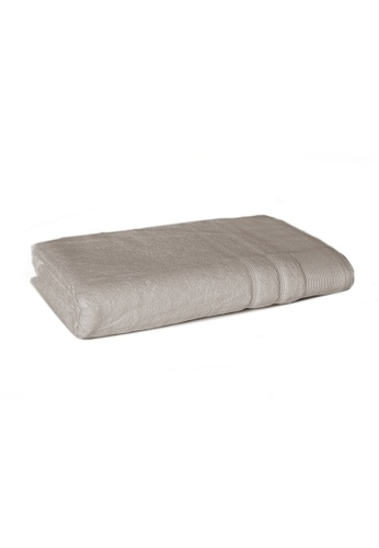 Primeo brown Premium Double Pile Taupe Bath Towel 540gsm Soft High Absorbent CD6B6HLE1C3DF2GS_1