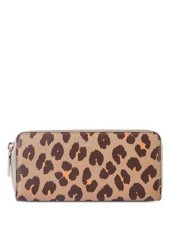 kate spade new york multi Margaux Leopard Slim Continental Wallet (cv) 68661ACADE1020GS_1