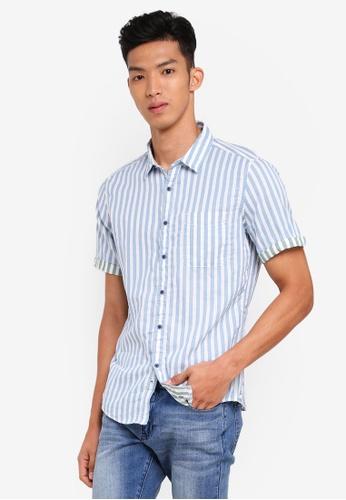ESPRIT white Woven Short Sleeve Shirt 6BBC8AAD2B1606GS_1