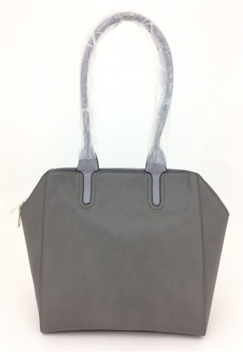 My Flash Trash grey Wing Zip City Bag 00359ACB19FB86GS_1