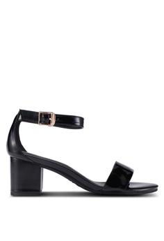 336d4318fefa prettyFIT black Mid Heel Patent Block Heels 6CA15SHD59B273GS 1