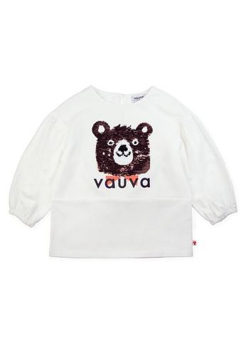 Vauva white Vauva Girls Sequin Bear Top - White 56879KABA7B3A3GS_1