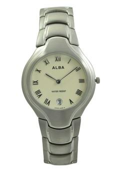 Image of ALBA Jam Tangan Pria - Silver Ivory - Stainless Steel - AVKA67