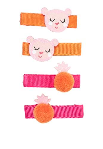 Du Pareil Au Même (DPAM) orange Multipack Hair Clips 99AE3KC9BAF2CFGS_1