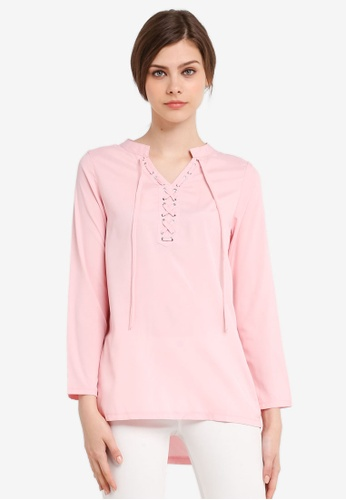 peace collections pink Muslimah Blouse PE234AA0SPJTMY_1