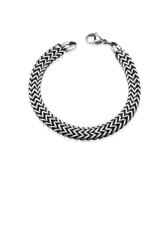 Glamorousky silver Fashion Simple Ancient Mayan 6mm 316L Stainless Steel Bracelet 10C55AC7045431GS_1