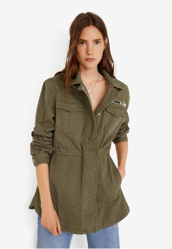 MANGO green Parka Camouflage Cotton Parka D1C71AA29636E3GS_1