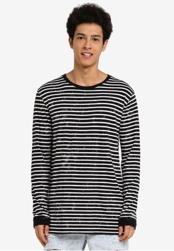 Factorie multi Longsleeve Shaded Stripe Tee 0C9C9AA001E6D4GS_1