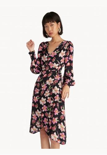 Pomelo black Pleated Cuff Side Tie Dress - Black A44FDAA814F3C4GS_1