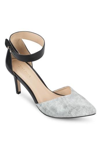 動物紋側鏤空zalora 手錶中跟鞋, 女鞋, 鞋
