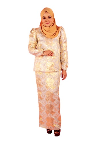 FATIMÉ blue and gold Premium Brocade Aisyah (Blue Gold) E8BAEAA8AFA560GS_1