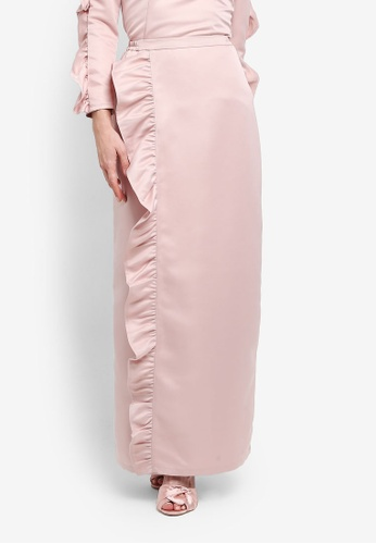 Zalia pink Frill Wrap Skirt 3FBEEAAEC001DEGS_1