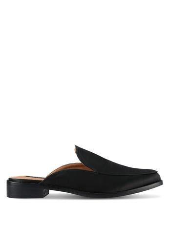 ZALORA black Satin Slide Loafers 124F6SH2492E83GS_1
