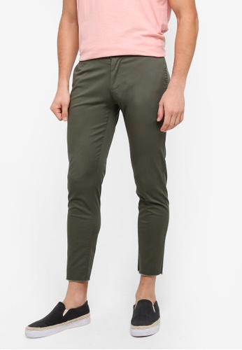 ZALORA brown Raw Edged Regular Chinos 3FE64AAB379416GS_1