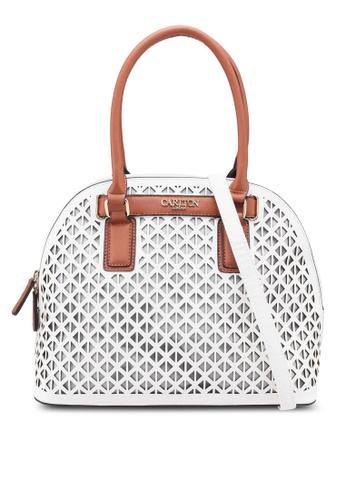 Carlton London white Saba Top Handle Bag 3EFA9ACB974193GS_1