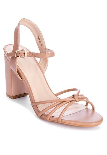 Primadonna beige Strappy Heels A5B53SH442B739GS_1