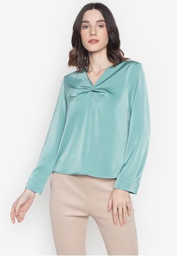 VERVE green Effie Women's Blouse 5F5F9AAA7B2F7FGS_1