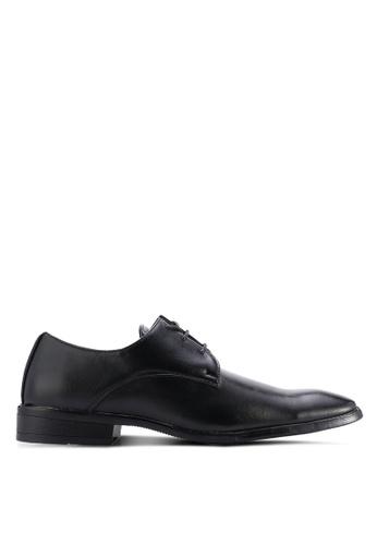 UniqTee black Lace Up Dress Shoes UN097SH06WMNMY_1